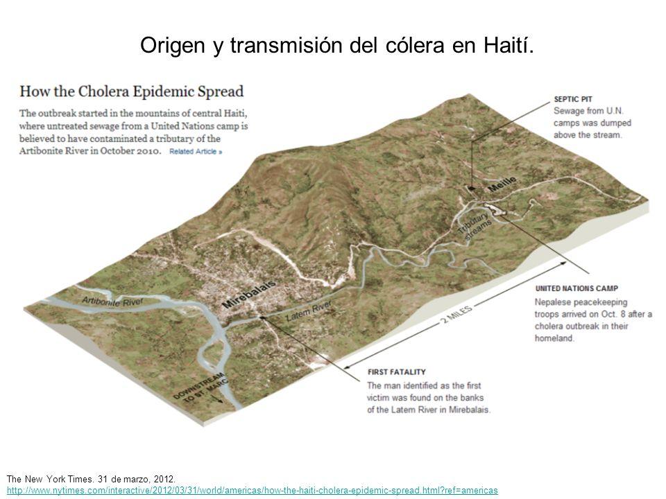 Origen y transmisión del cólera en Haití.