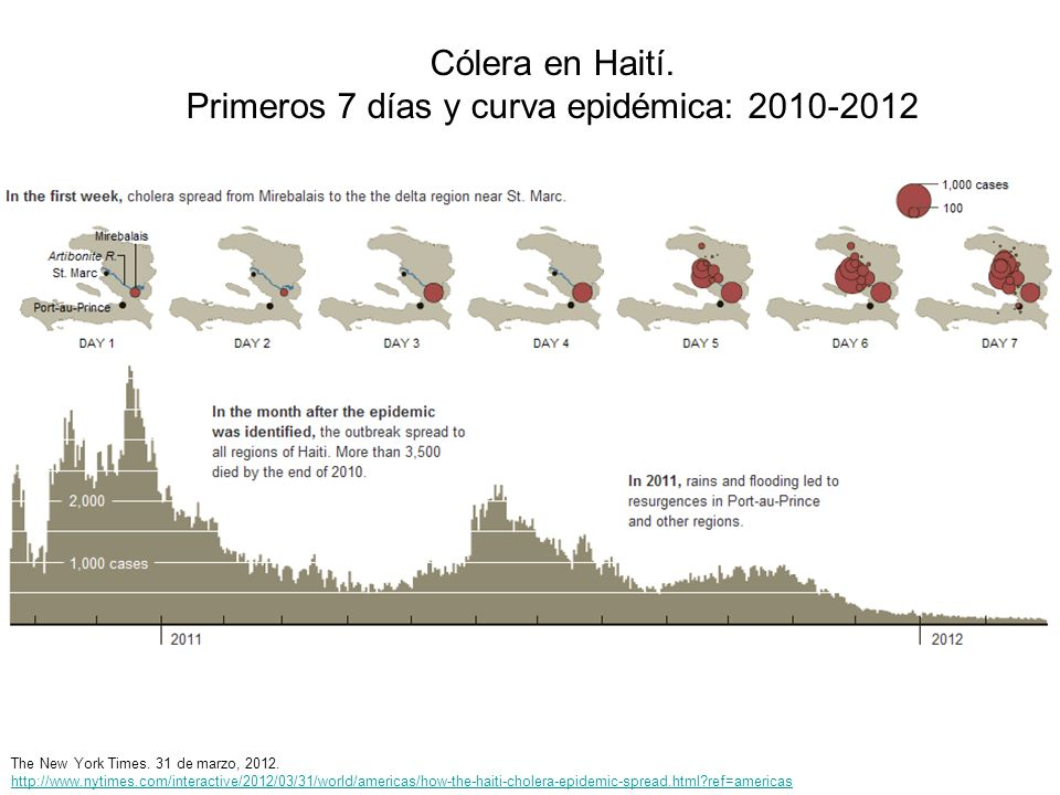 Primeros 7 días y curva epidémica: 2010-2012