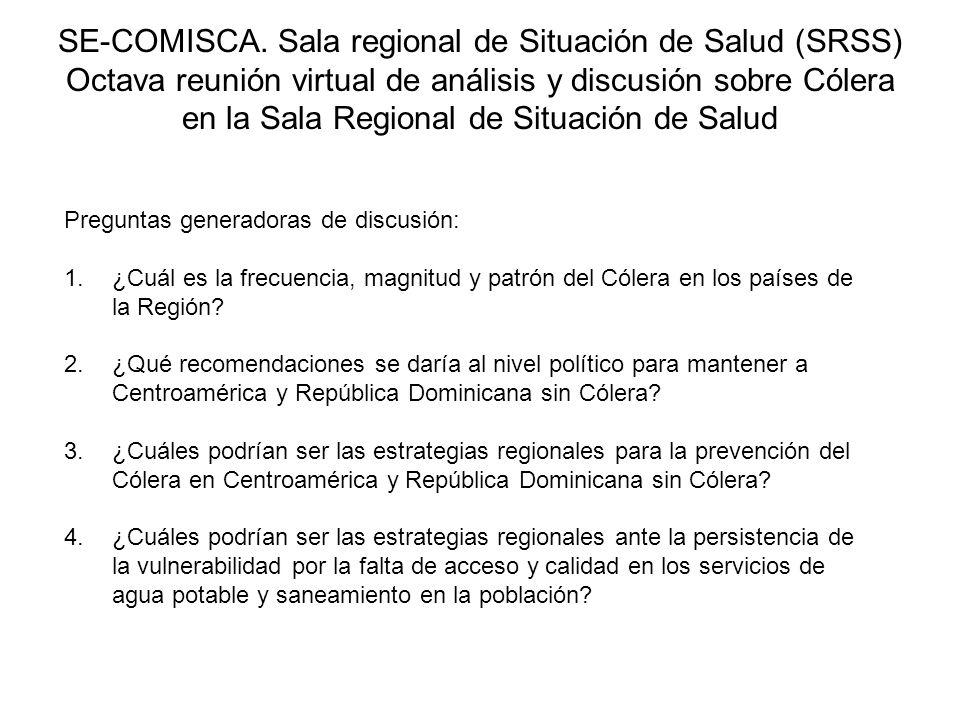 SE-COMISCA. Sala regional de Situación de Salud (SRSS)