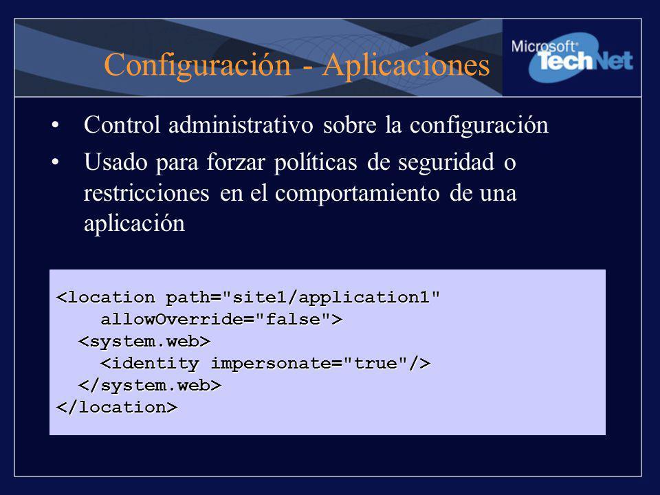 Configuración - Aplicaciones