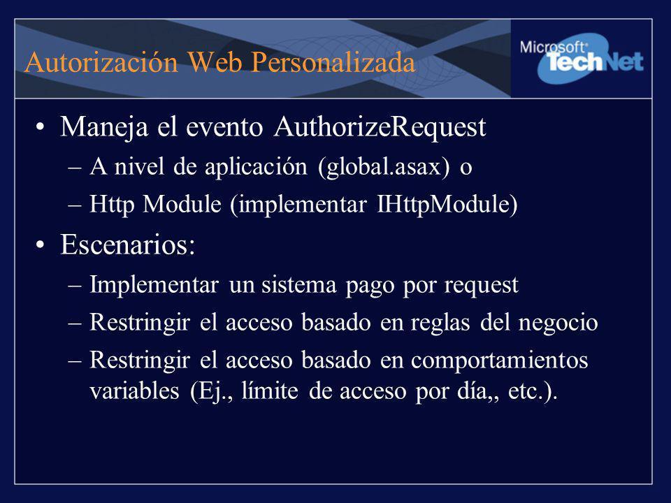 Autorización Web Personalizada