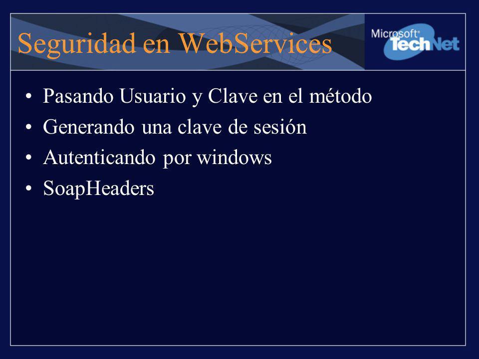 Seguridad en WebServices