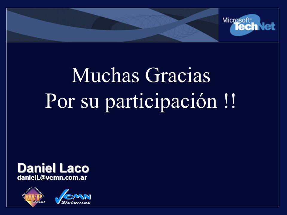 Muchas Gracias Por su participación !!