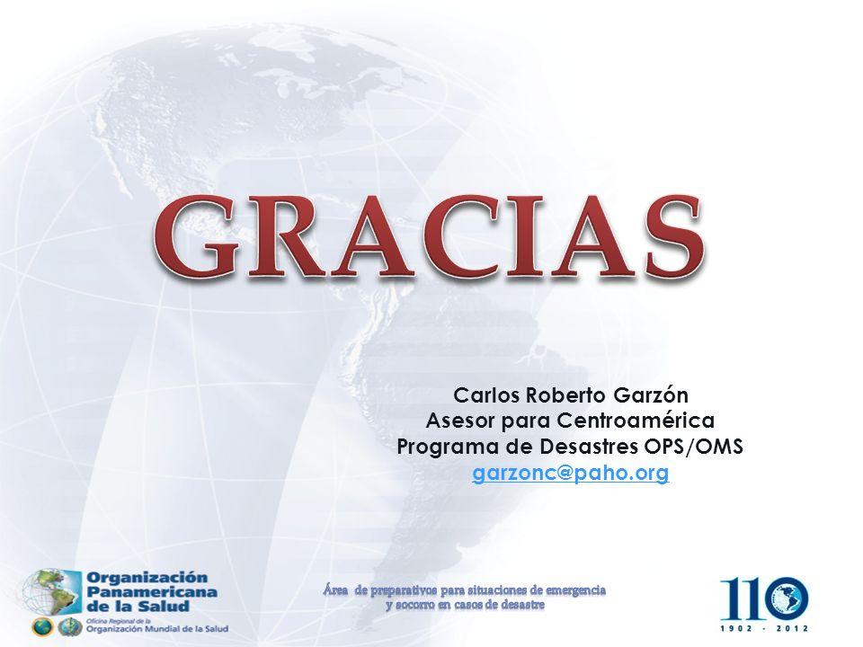 Asesor para Centroamérica Programa de Desastres OPS/OMS