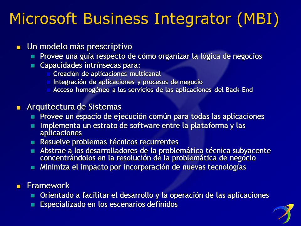 Microsoft Business Integrator (MBI)