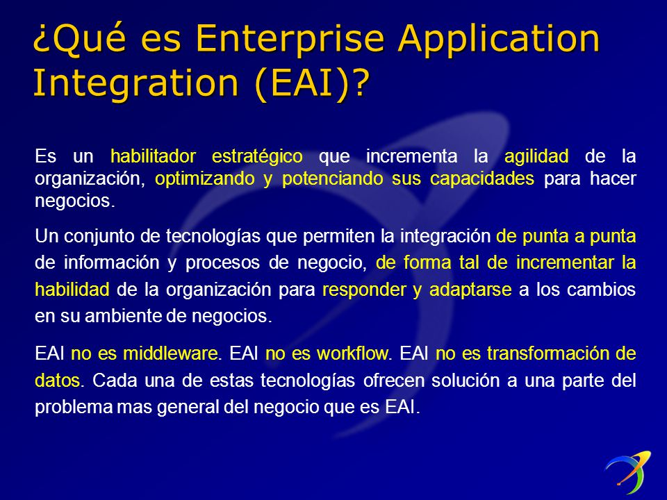 ¿Qué es Enterprise Application Integration (EAI)