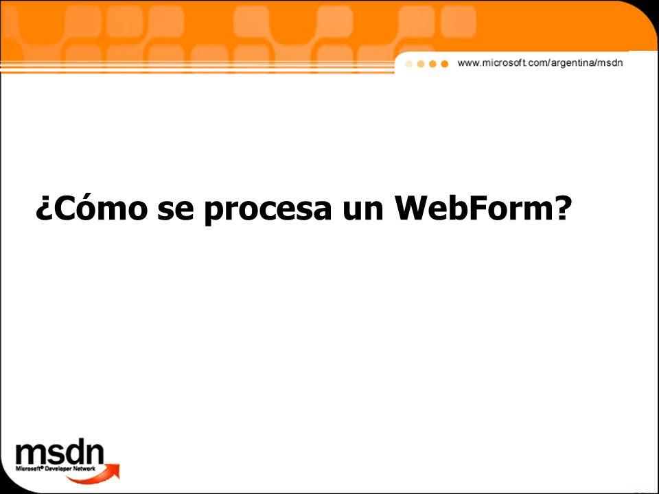 ¿Cómo se procesa un WebForm