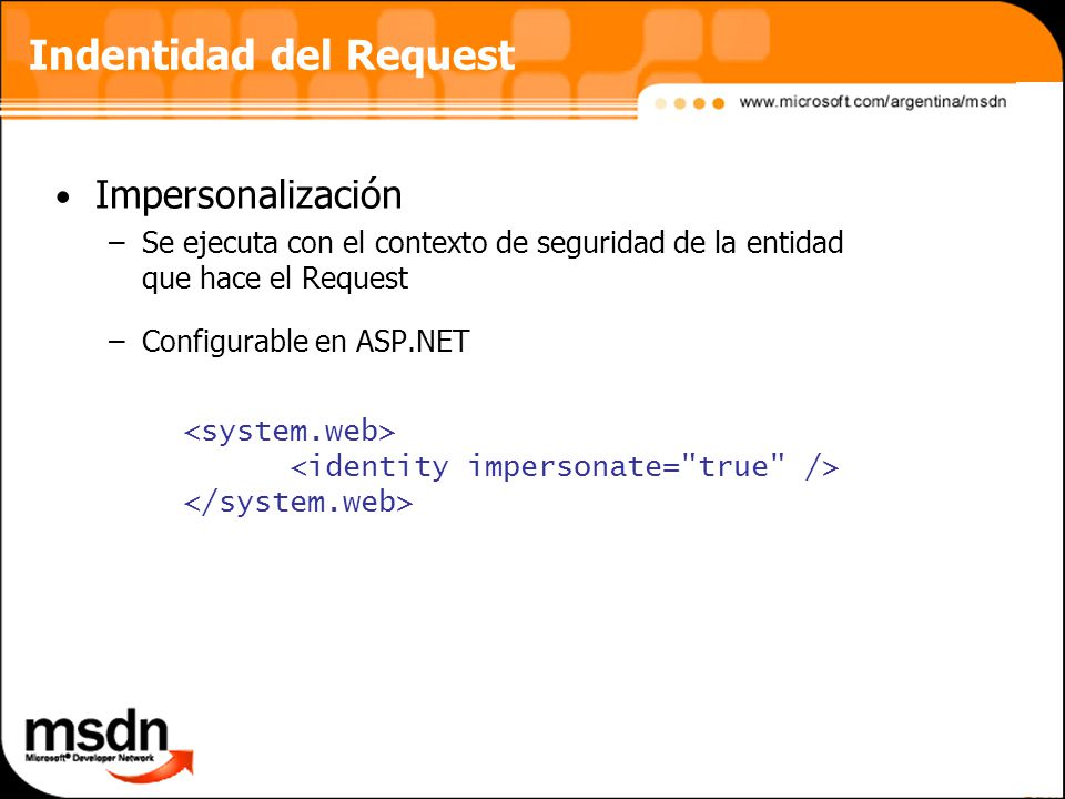 Indentidad del Request