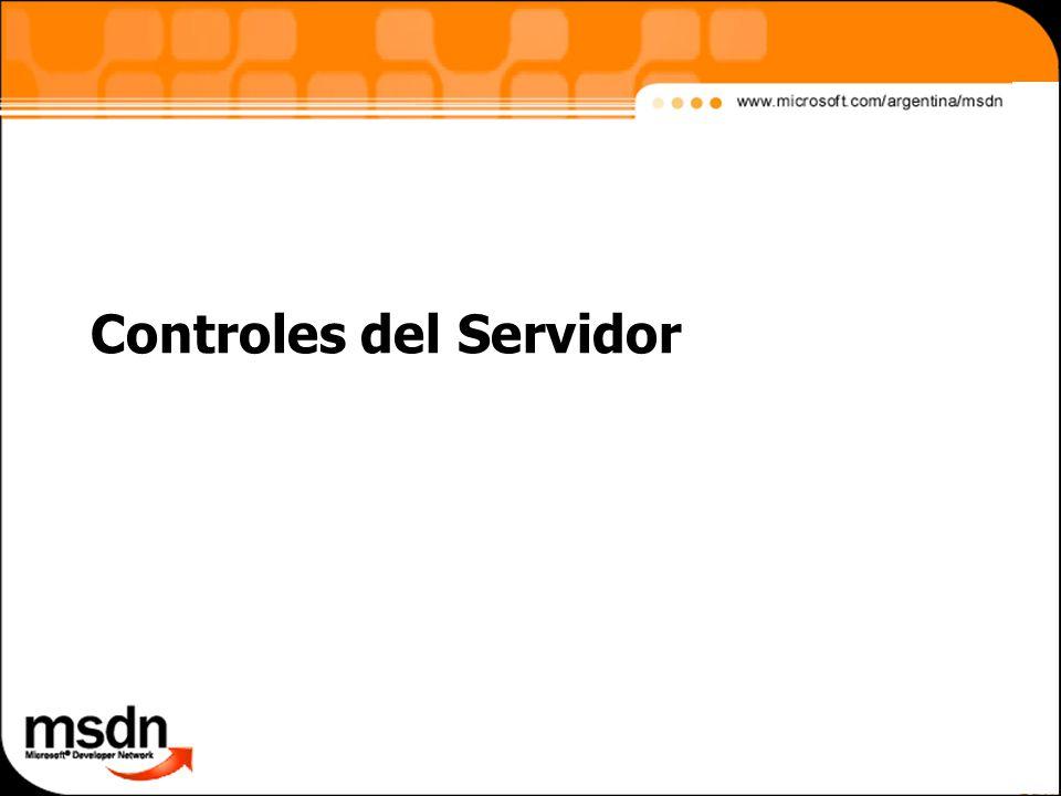 Controles del Servidor