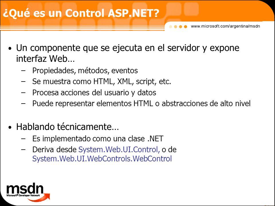 ¿Qué es un Control ASP.NET