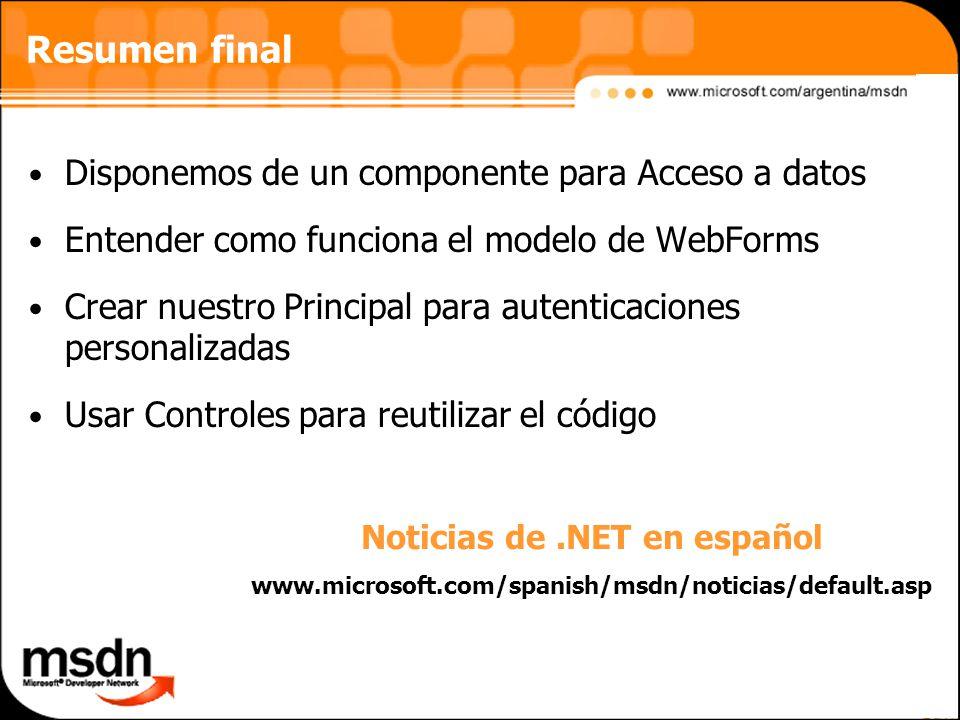Noticias de .NET en español