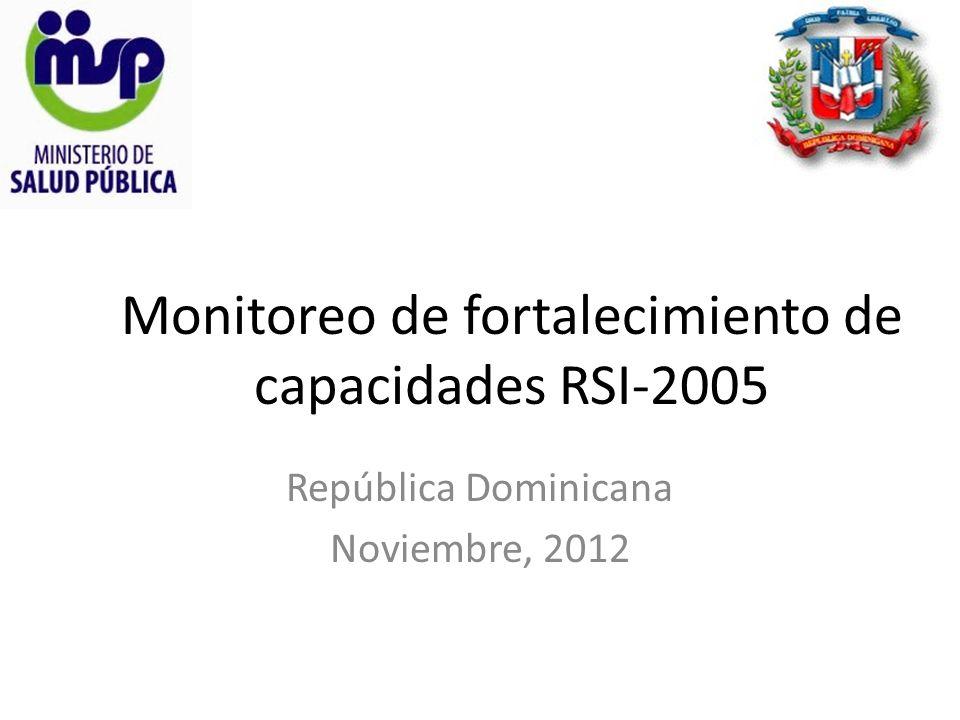 Monitoreo de fortalecimiento de capacidades RSI-2005