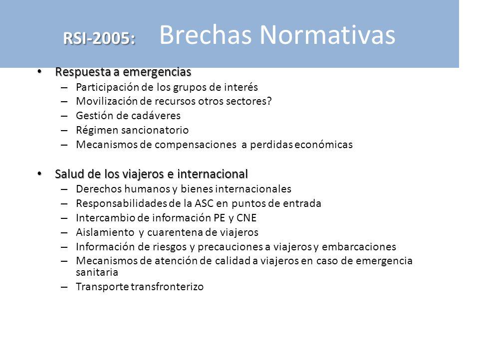 RSI-2005: Brechas Normativas