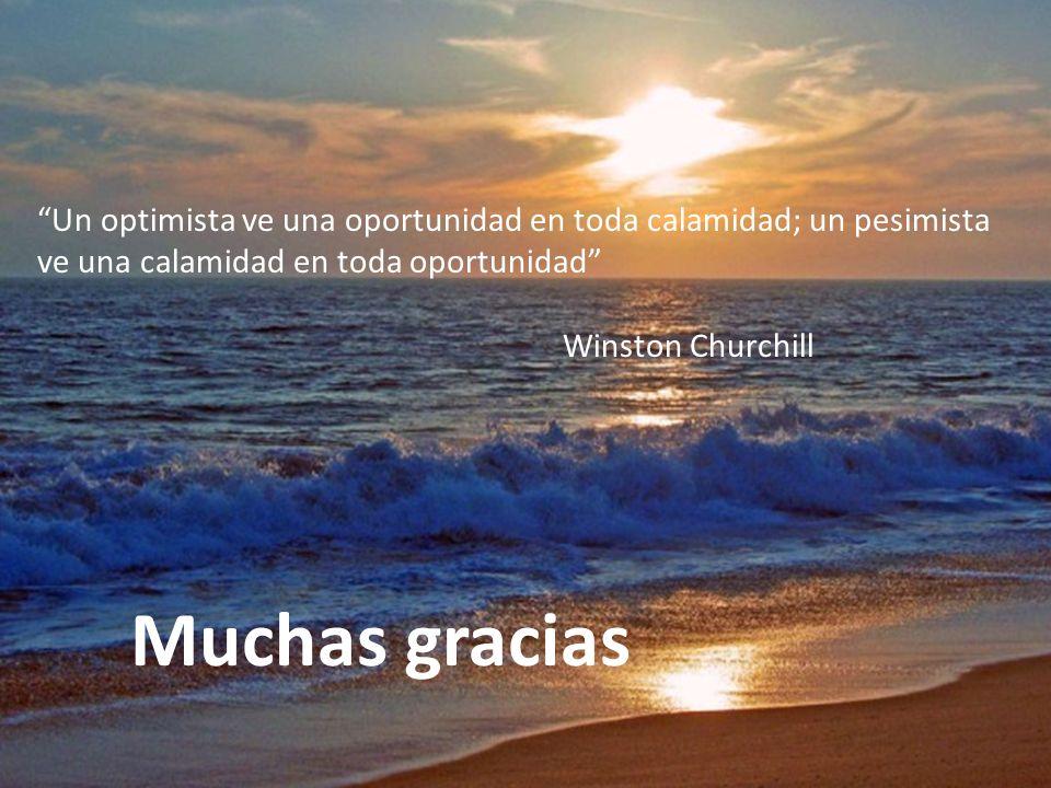 Un optimista ve una oportunidad en toda calamidad; un pesimista ve una calamidad en toda oportunidad