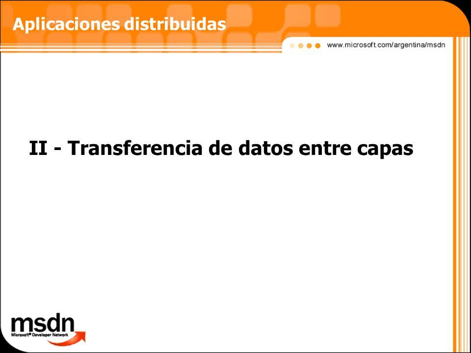 II - Transferencia de datos entre capas