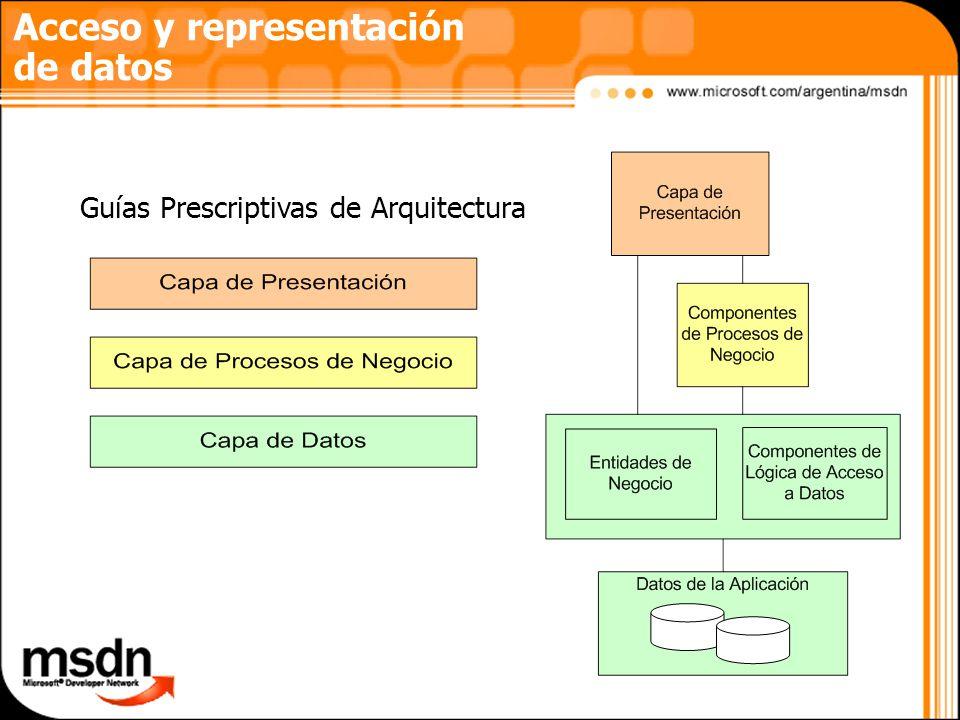 Acceso y representación de datos