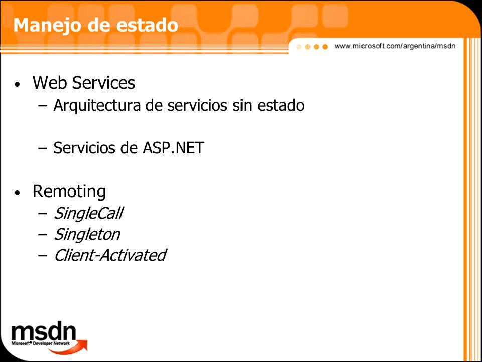 Manejo de estado Web Services Remoting
