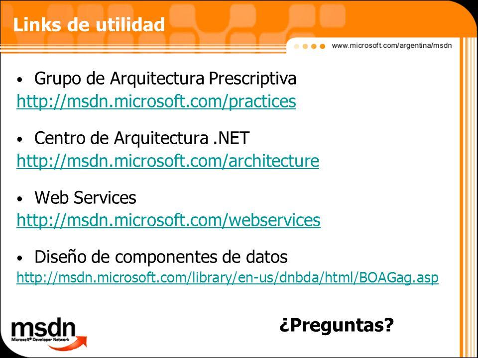 Links de utilidad ¿Preguntas Grupo de Arquitectura Prescriptiva