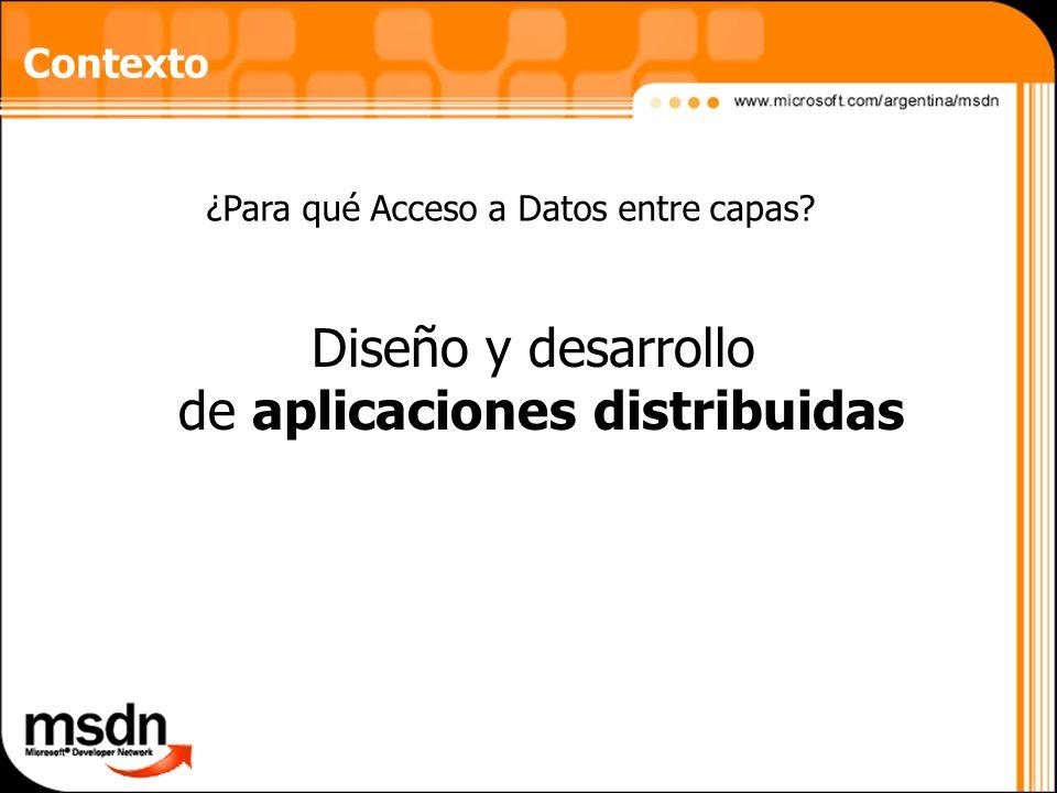 Diseño y desarrollo de aplicaciones distribuidas