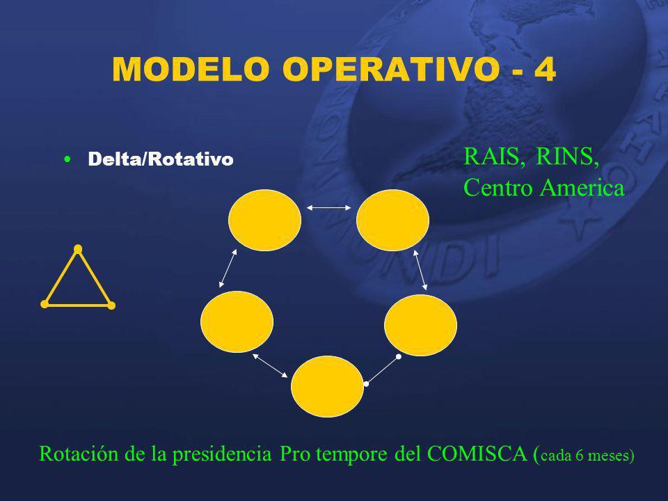 MODELO OPERATIVO - 4 RAIS, RINS, Centro America