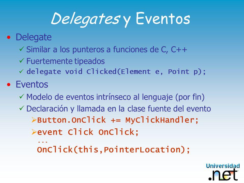 Delegates y Eventos Delegate Eventos