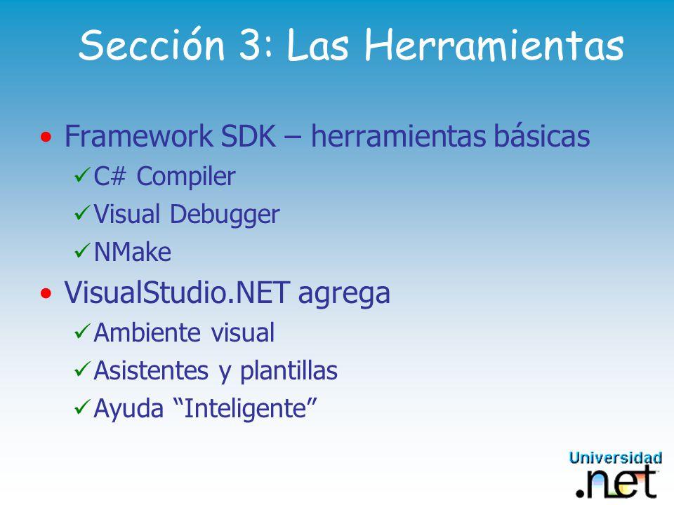 Sección 3: Las Herramientas