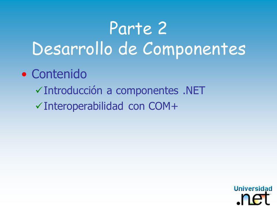Parte 2 Desarrollo de Componentes