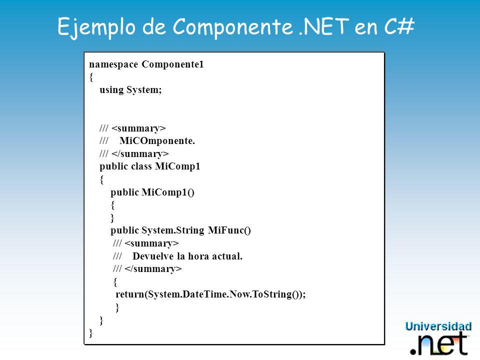 Ejemplo de Componente .NET en C#