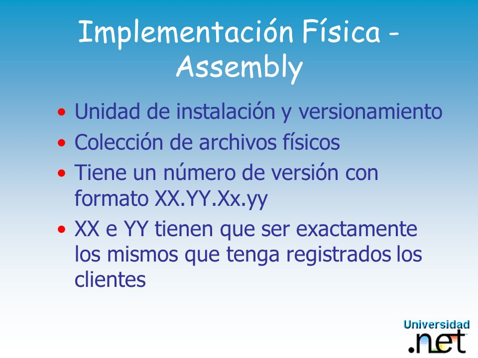 Implementación Física - Assembly