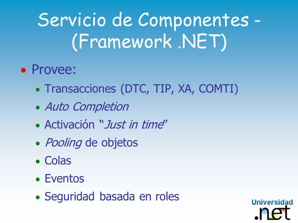 Servicio de Componentes - (Framework .NET)