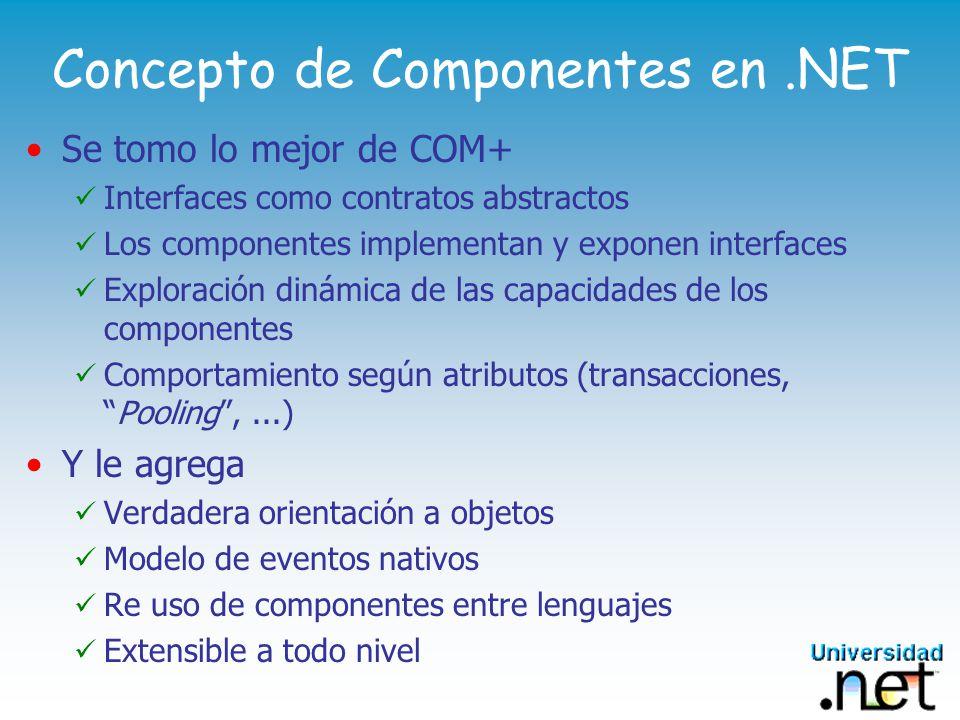 Concepto de Componentes en .NET