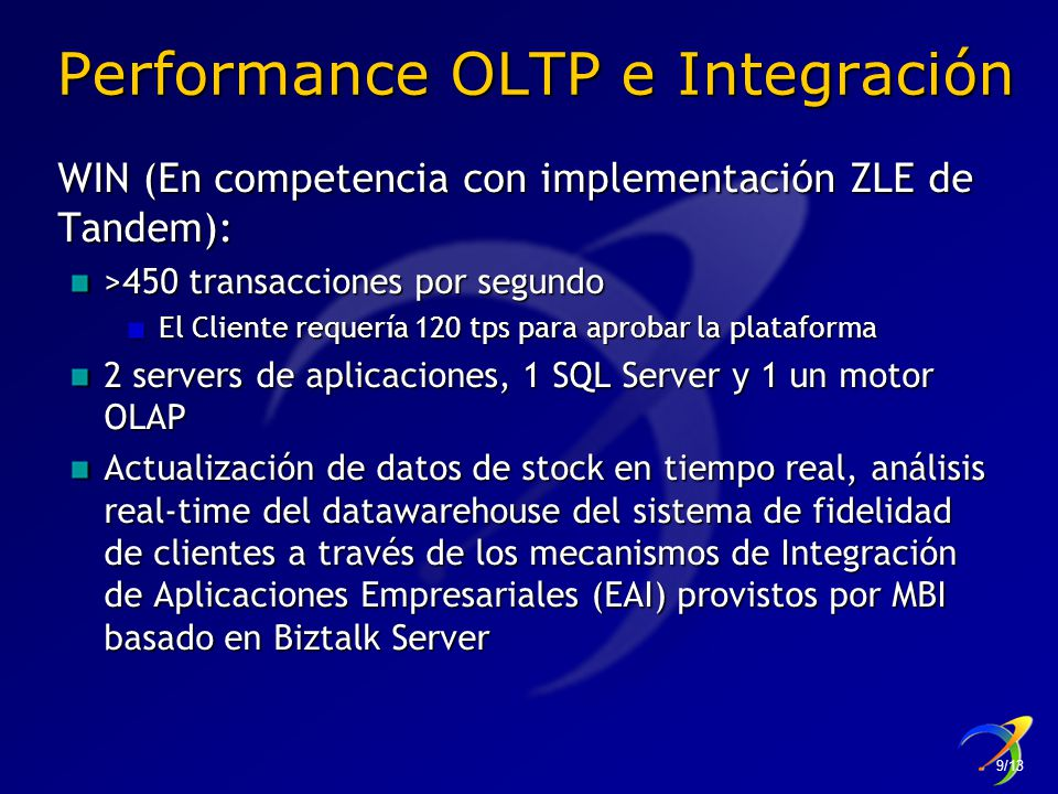 Performance OLTP e Integración
