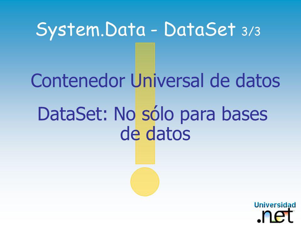 Contenedor Universal de datos DataSet: No sólo para bases de datos