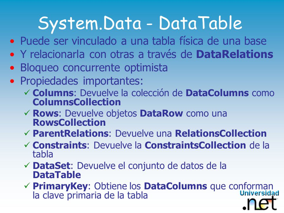 System.Data - DataTable
