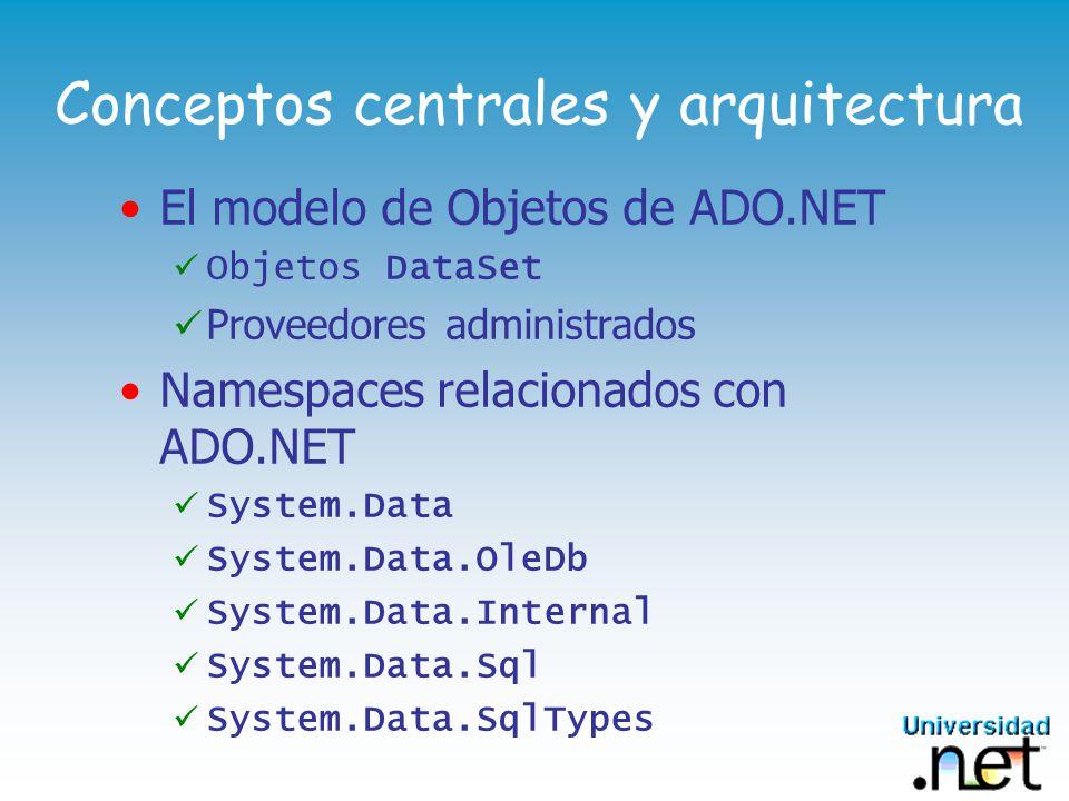 Conceptos centrales y arquitectura