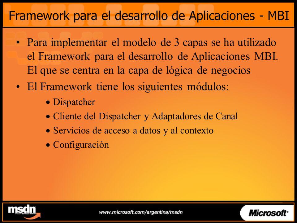 Framework para el desarrollo de Aplicaciones - MBI