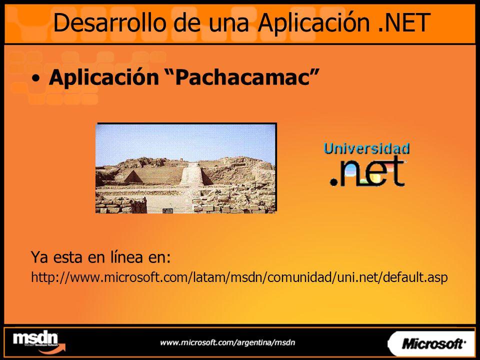 Desarrollo de una Aplicación .NET