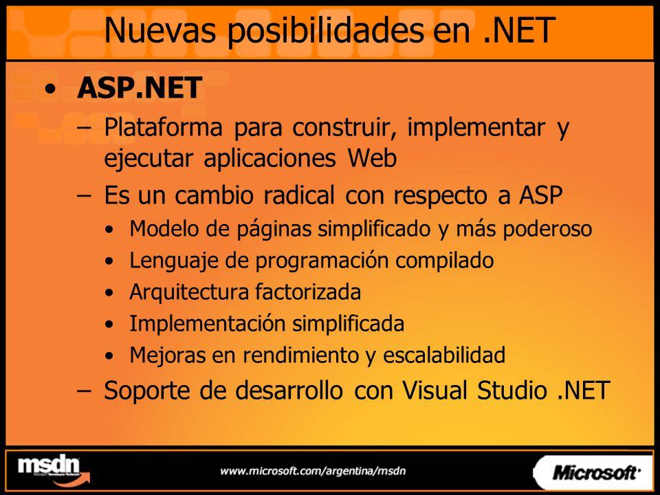 Nuevas posibilidades en .NET