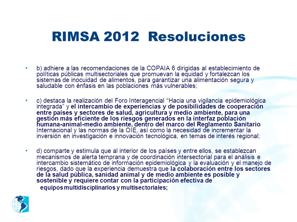 RIMSA 2012 Resoluciones