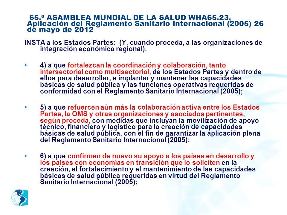 65. ª ASAMBLEA MUNDIAL DE LA SALUD WHA65