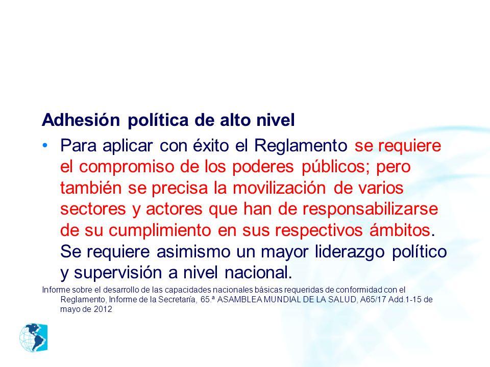 Adhesión política de alto nivel