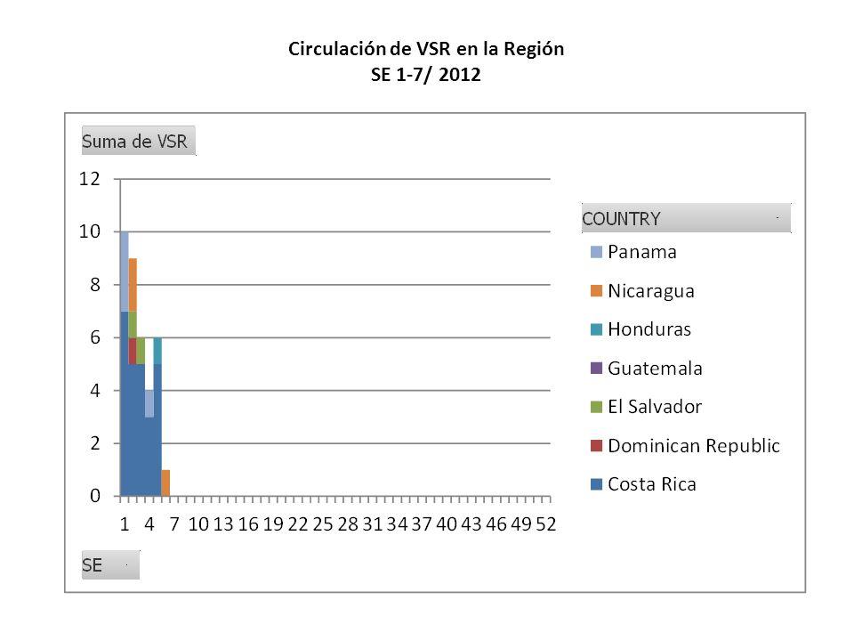 Circulación de VSR en la Región