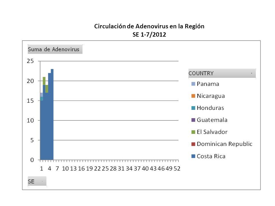 Circulación de Adenovirus en la Región