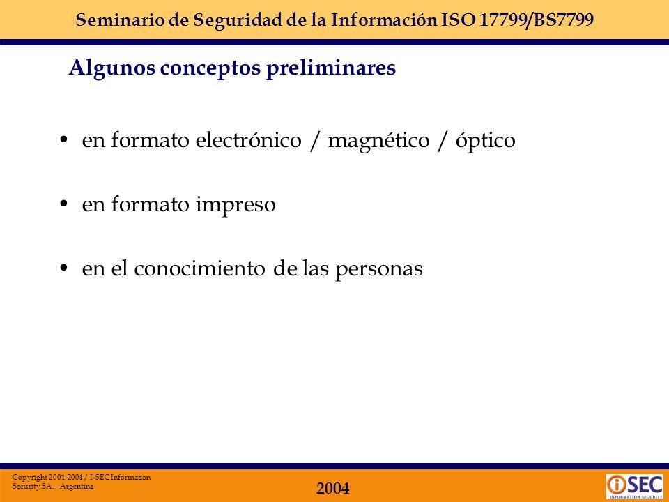 en formato electrónico / magnético / óptico