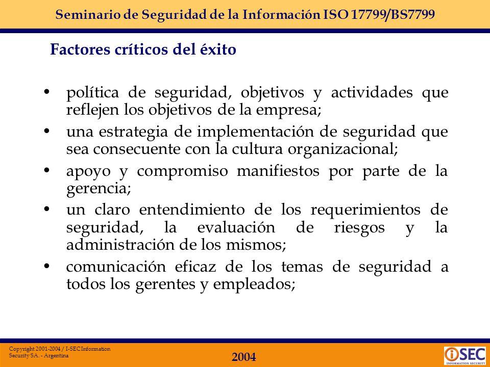 política de seguridad, objetivos y actividades que reflejen los objetivos de la empresa;
