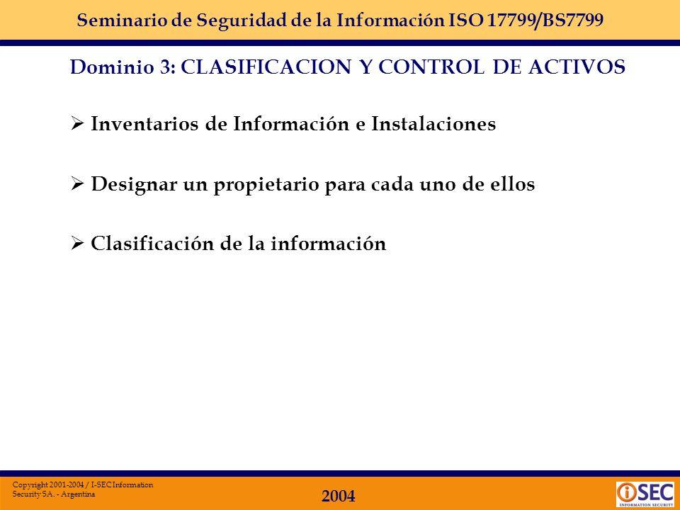 Inventarios de Información e Instalaciones