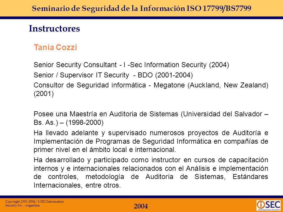 Instructores Tania Cozzi