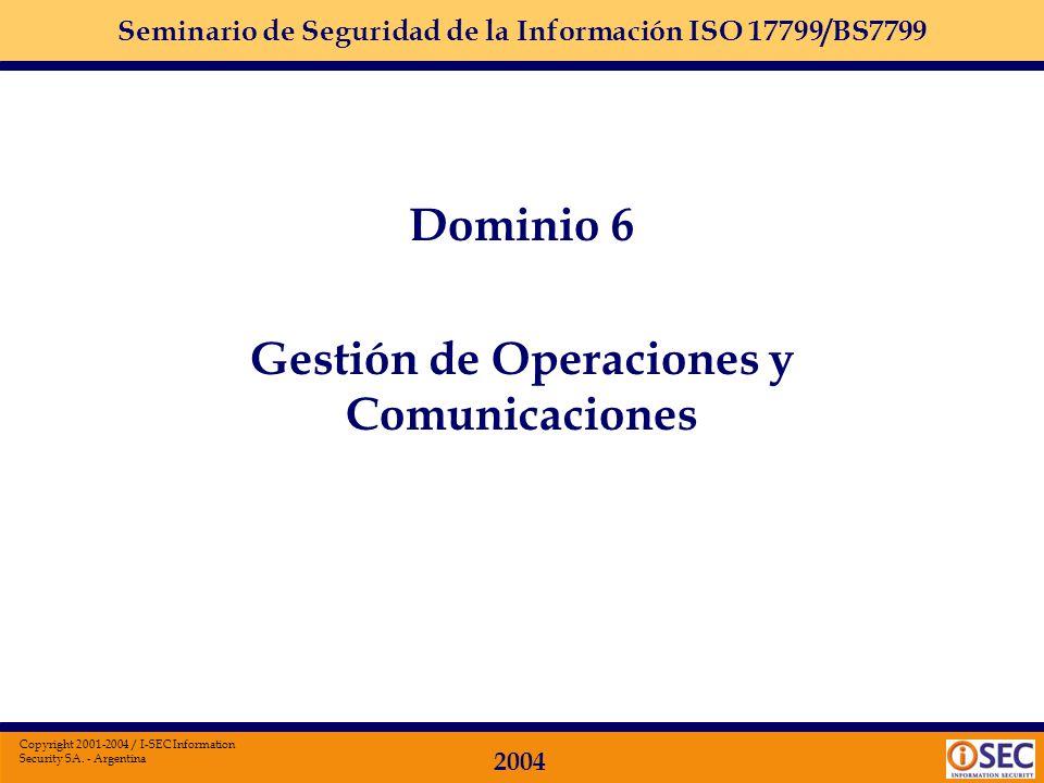 Gestión de Operaciones y Comunicaciones