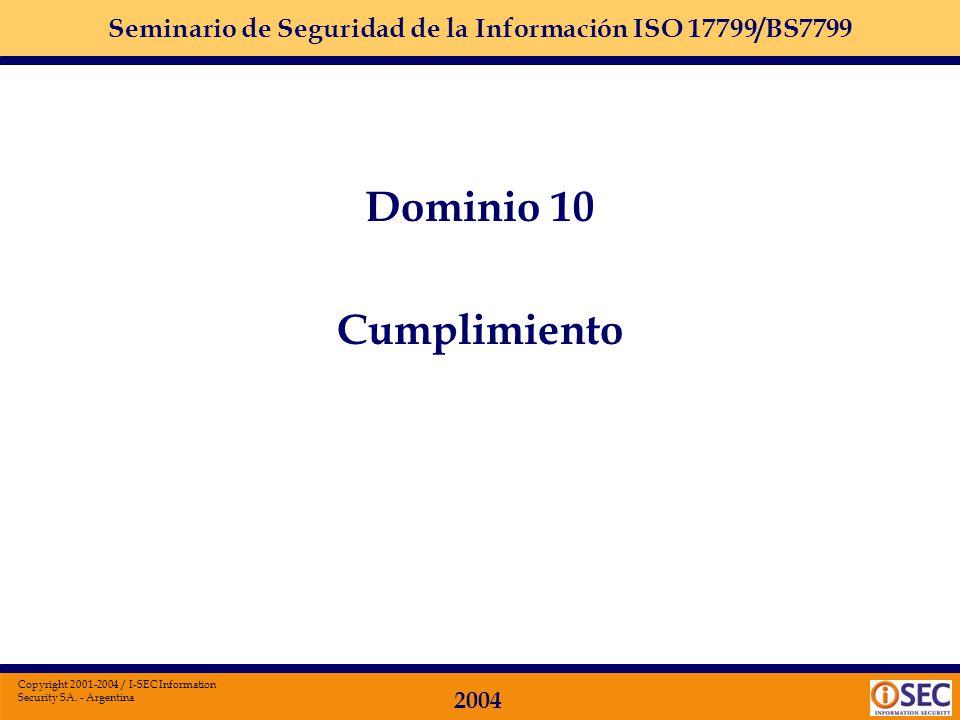 Dominio 10 Cumplimiento