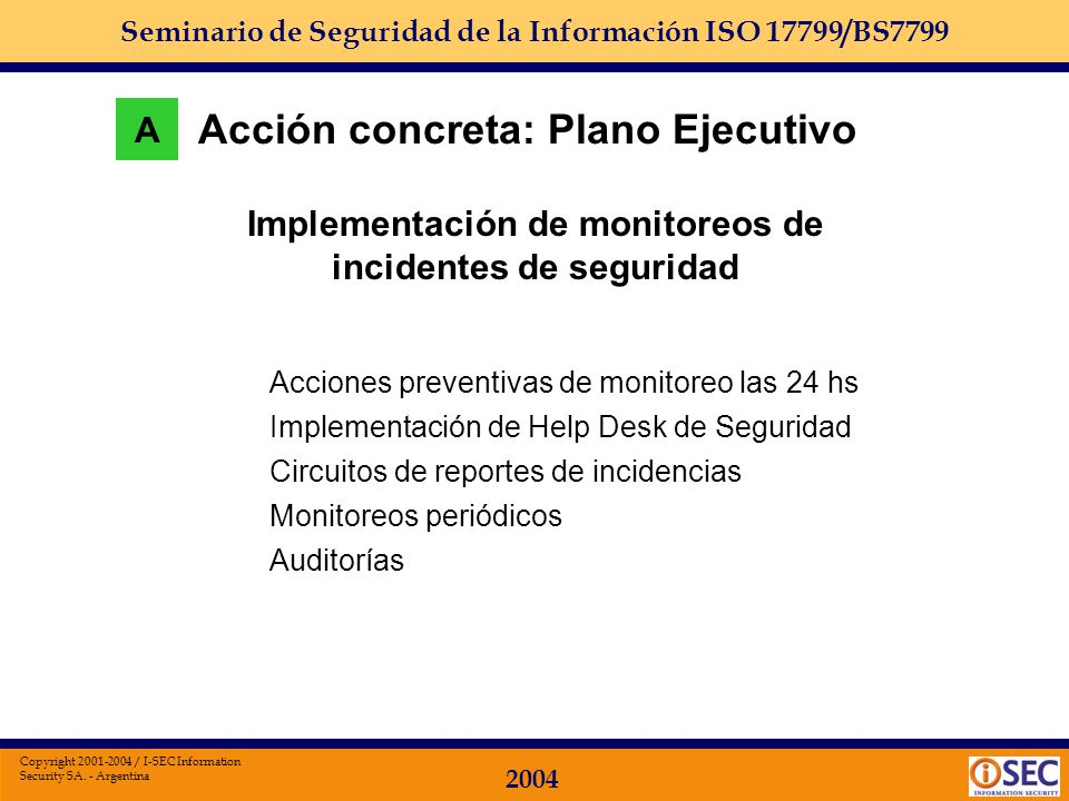Implementación de monitoreos de incidentes de seguridad